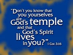 1 Corinthians we are the Temple