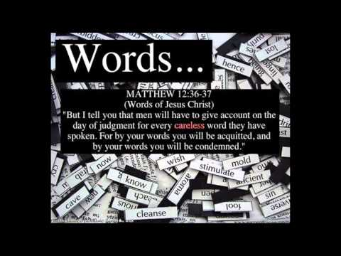 Words Matthew 12 36, 37