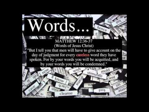 Words Matthew 12 36, 37