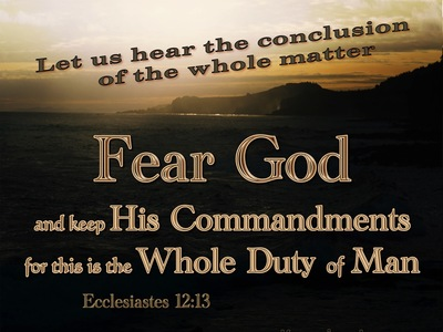 Ecclesiastes 12-13 Fear God And Keep His Commandments beige