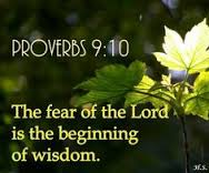 Prov 9 10 fear YHVH