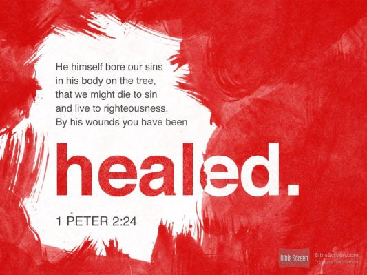 1 Peter 2 He bore our sin