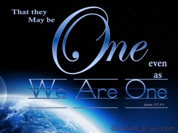 John 17-11 That They May Be One blue