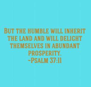 Psalm 37 11 Humble