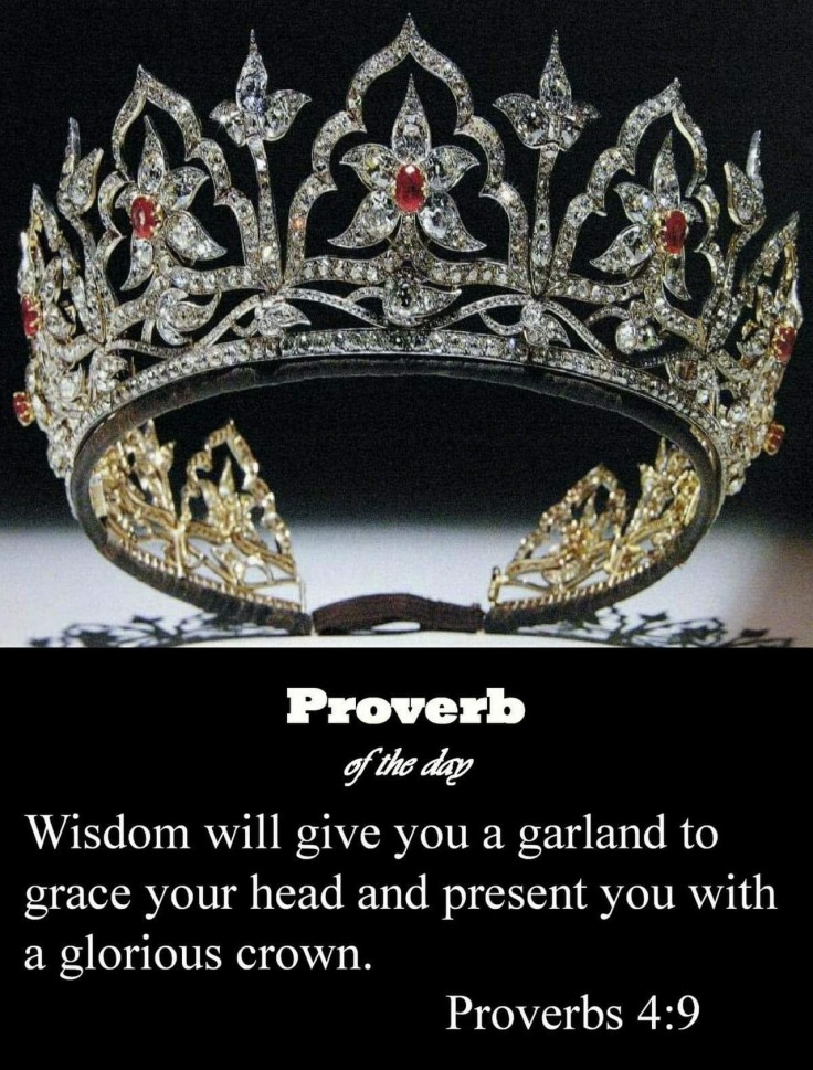 Proverbs 4 9 crown of glory