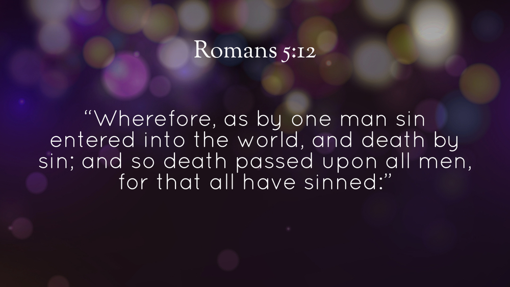 Image result for image of Romans 5:12