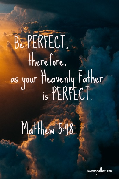 Image result for image of Matthew 5:48