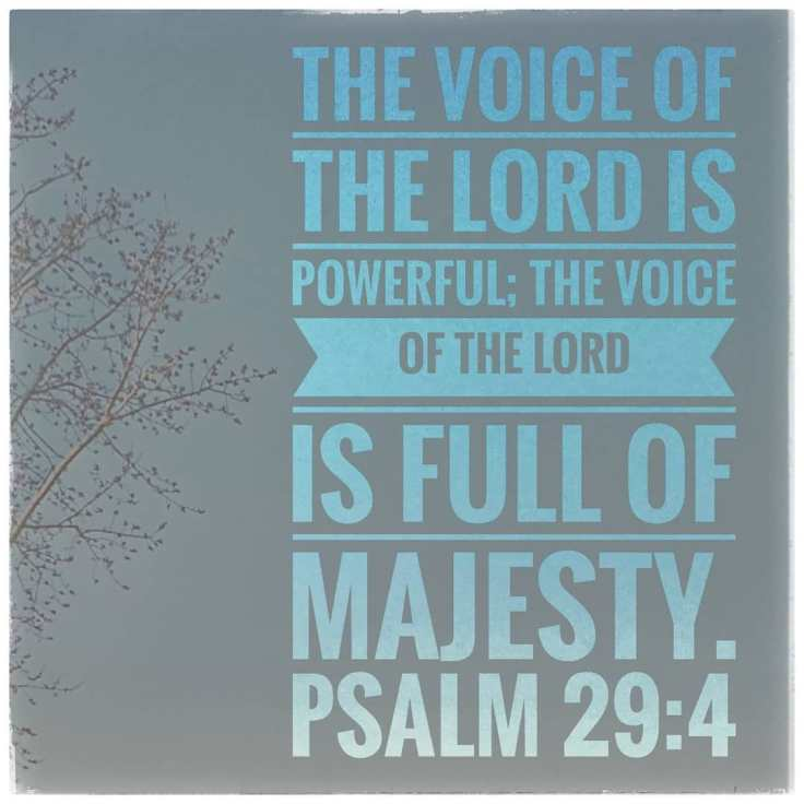 Image result for image of Psalm 29 the Voice YHVH